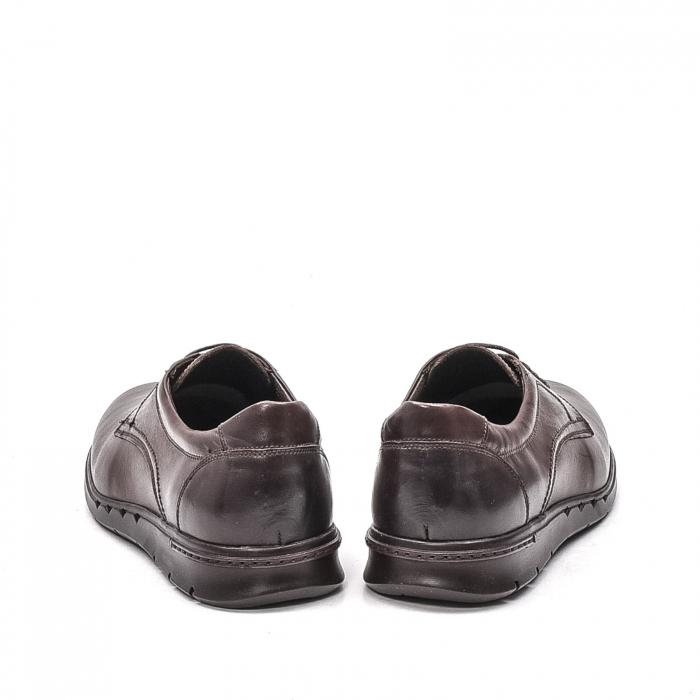 Pantofi barbati casual din piele naturala, 181585CR, maro 6