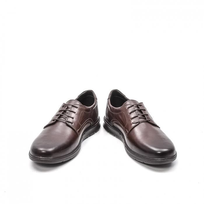 Pantofi barbati casual din piele naturala, 181585CR, maro 4