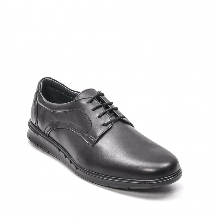Pantofi barbati casual din piele naturala, 181585CR, negru 0