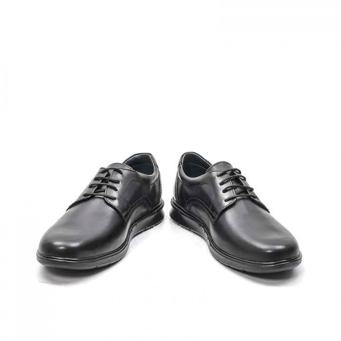 Pantofi barbati casual din piele naturala, 181585CR, negru 4