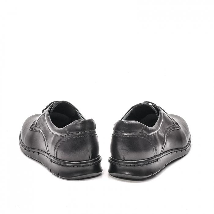 Pantofi barbati casual din piele naturala, 181585CR, negru 6