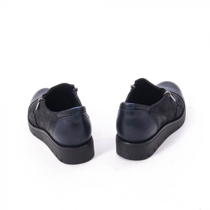 Pantofi casual dama din piele naturala, Catali 182634,bleumarin 1