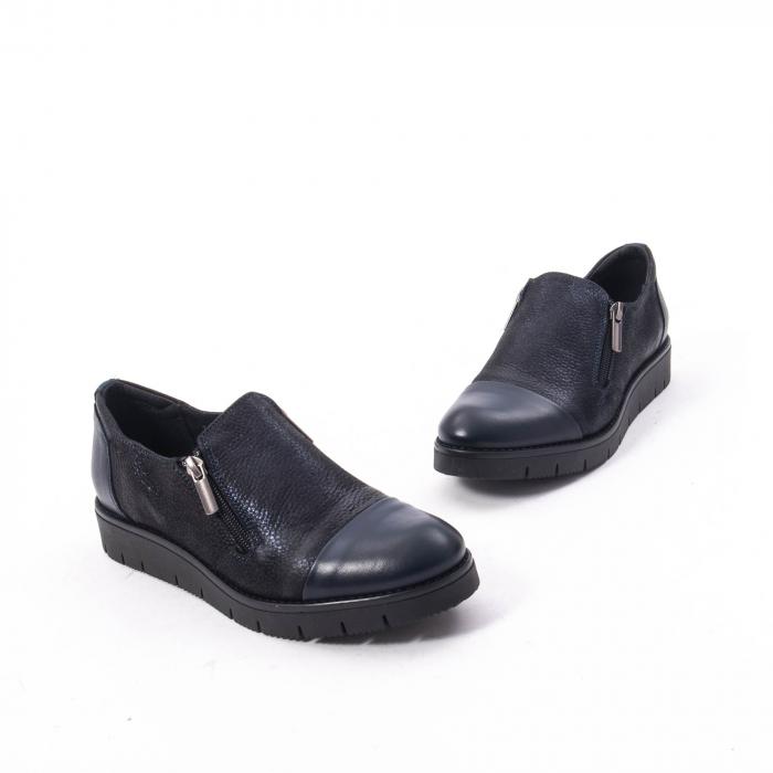 Pantofi casual dama din piele naturala, Catali 182634,bleumarin 2