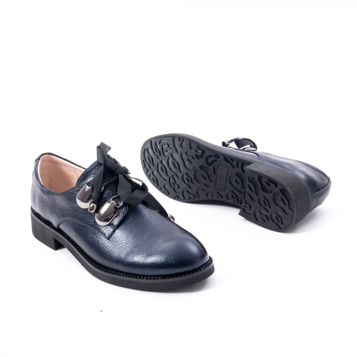 Pantofi casual dama din piele naturala, bleumarin, Epica jixs320- 42-N 3