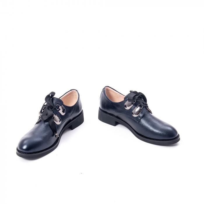 Pantofi casual dama din piele naturala, bleumarin, Epica jixs320- 42-N 4