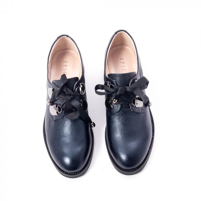 Pantofi casual dama din piele naturala, bleumarin, Epica jixs320- 42-N 5