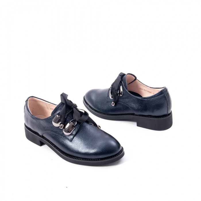 Pantofi casual dama din piele naturala, bleumarin, Epica jixs320- 42-N 2