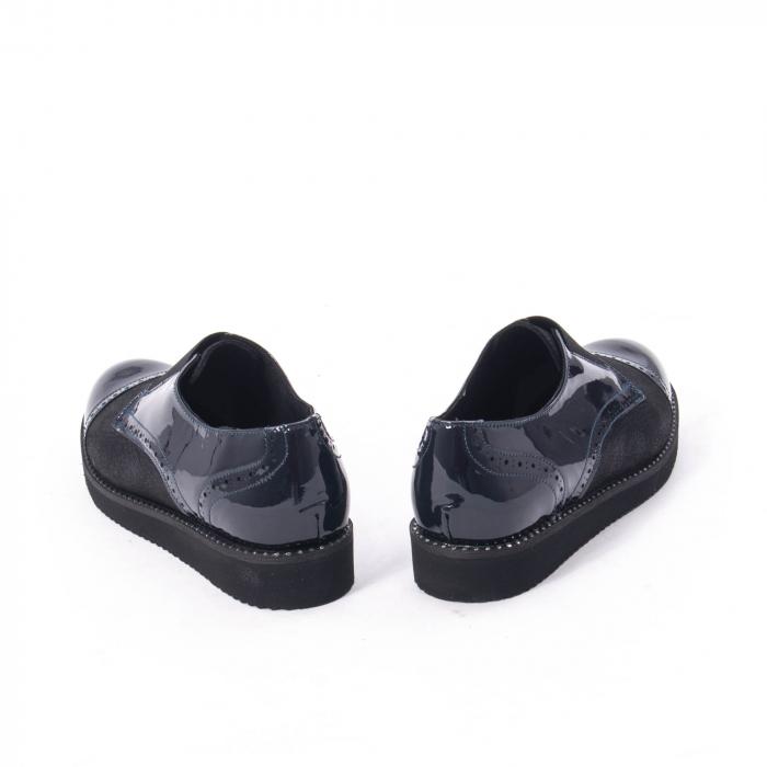 Pantofi casual dama piele naturala lacuita Catali 182632, bleumarin 6