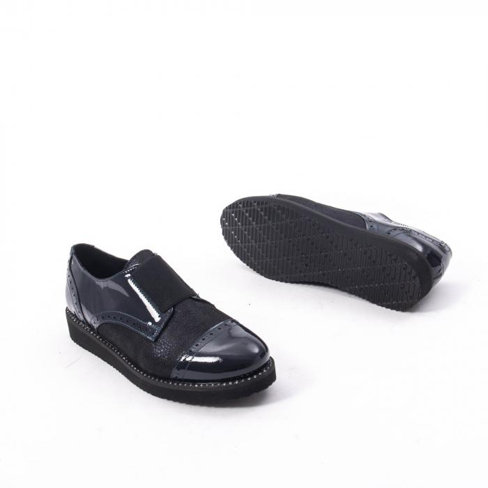 Pantofi casual dama piele naturala lacuita Catali 182632, bleumarin 3