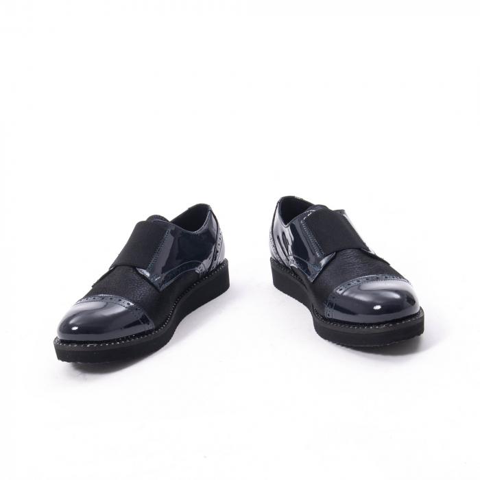 Pantofi casual dama piele naturala lacuita Catali 182632, bleumarin 4