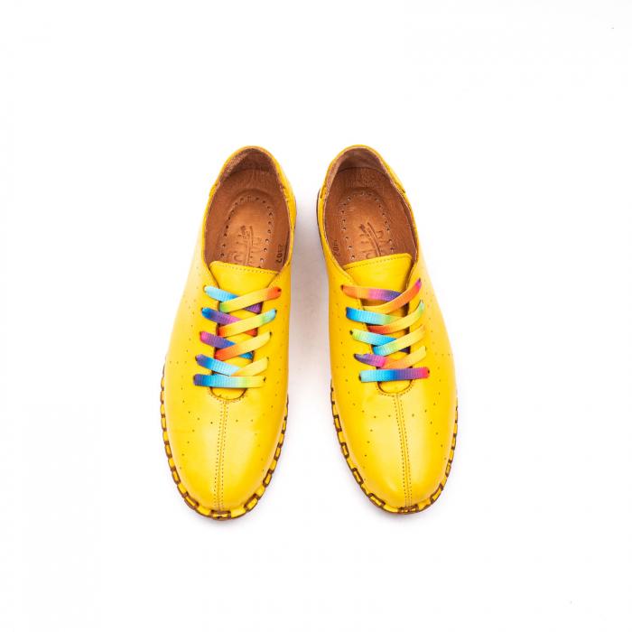 Pantofi dama casual din piele naturala, E2H19Y2902 08-N 5