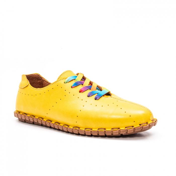 Pantofi dama casual din piele naturala, E2H19Y2902 08-N 0
