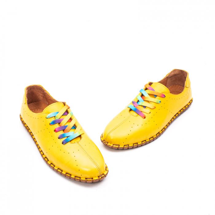Pantofi dama casual din piele naturala, E2H19Y2902 08-N 1