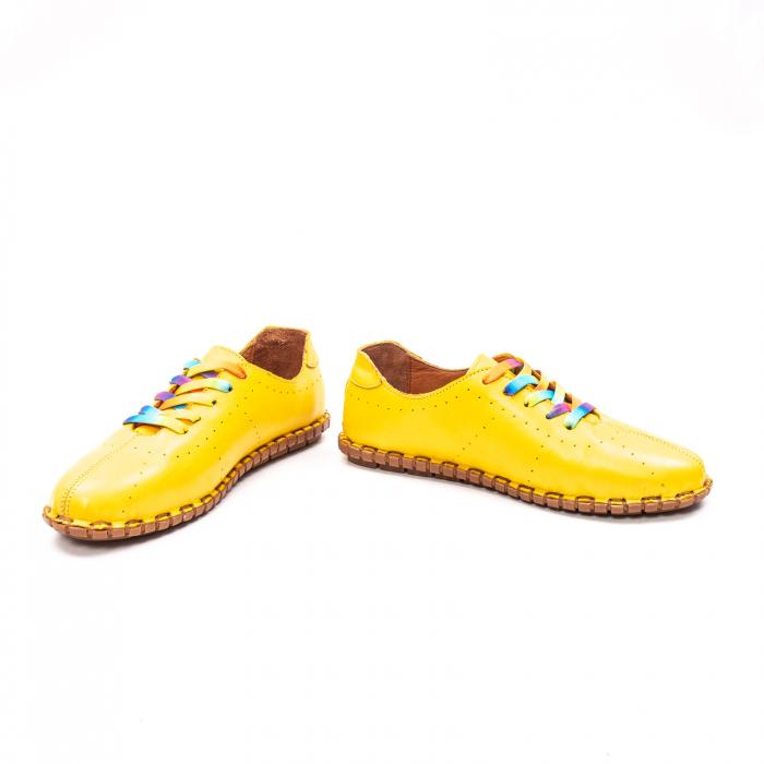 Pantofi dama casual din piele naturala, E2H19Y2902 08-N 4