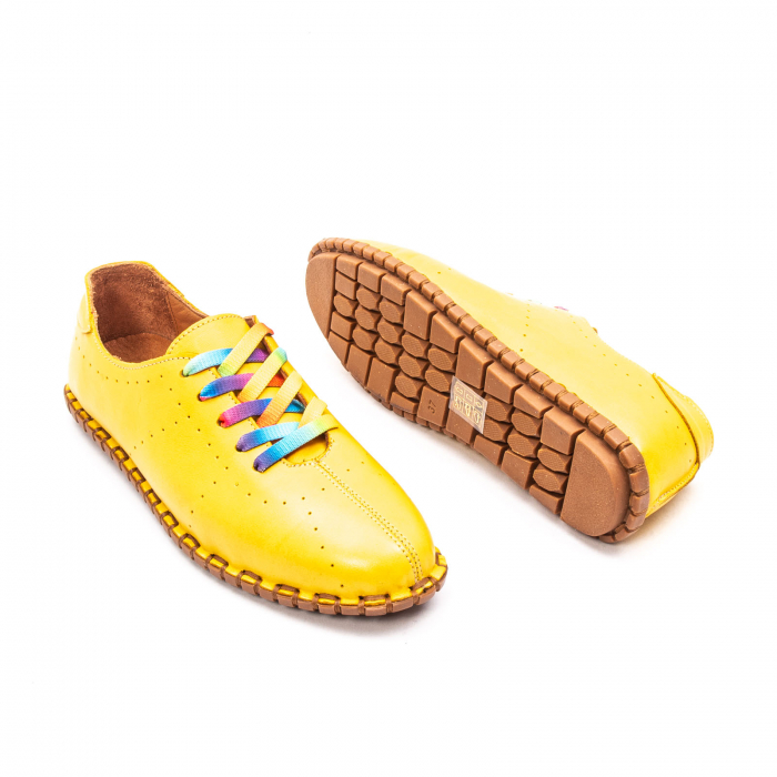 Pantofi dama casual din piele naturala, E2H19Y2902 08-N 3