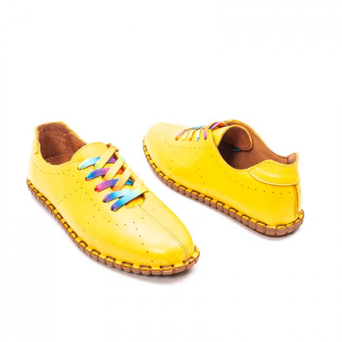 Pantofi dama casual din piele naturala, E2H19Y2902 08-N 2