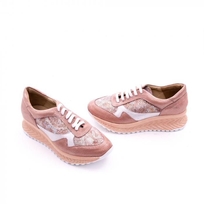 Pantofi casual dama, piele naturala, Nike Invest 1192, roz-argintiu 1