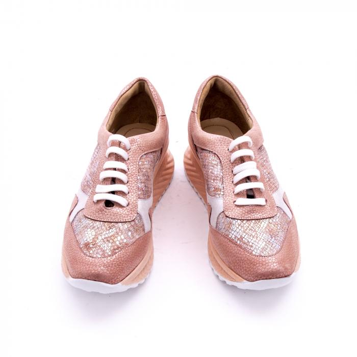 Pantofi casual dama, piele naturala, Nike Invest 1192, roz-argintiu 3