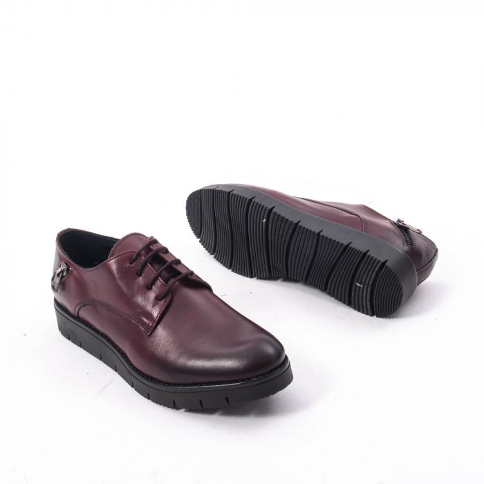 Pantofi casual dama, piele naturala Catali 162602 bordo 3