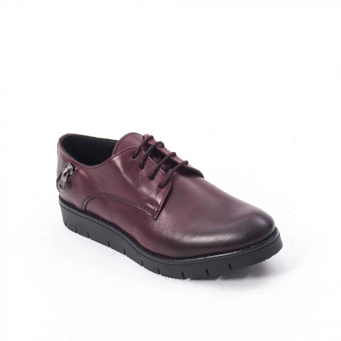Pantofi casual dama, piele naturala Catali 162602 bordo 0