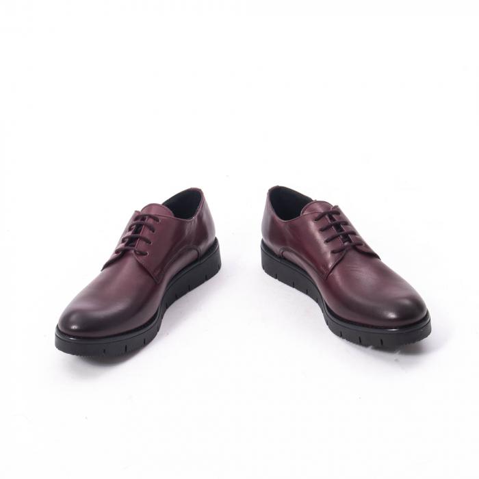 Pantofi casual dama, piele naturala Catali 162602 bordo 4
