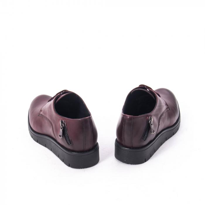 Pantofi casual dama, piele naturala Catali 162602 bordo 6