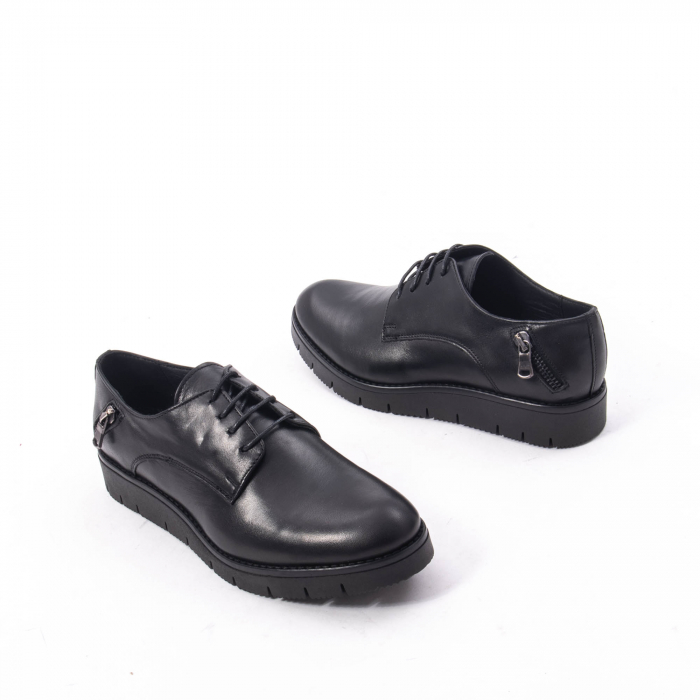 Pantofi casual dama, piele naturala Catali 162602 negru 2