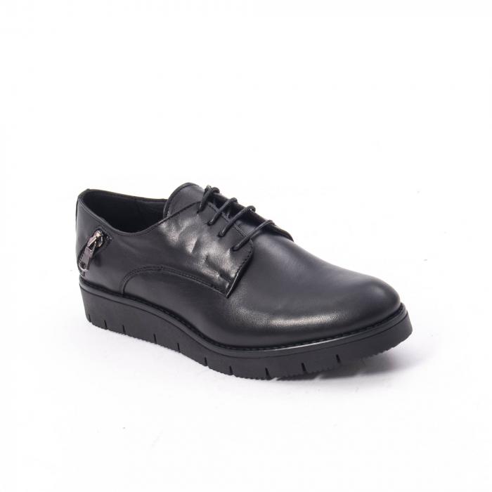 Pantofi casual dama, piele naturala Catali 162602 negru 0