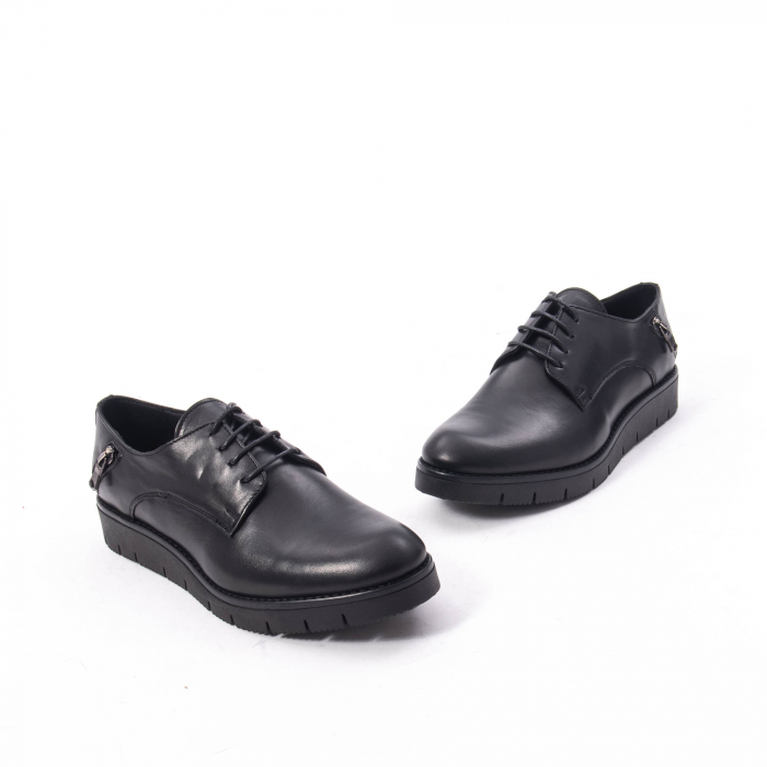 Pantofi casual dama, piele naturala Catali 162602 negru 1