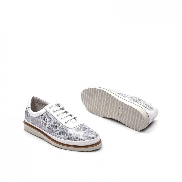 Pantofi dama casual din piele naturala, 171608NP, alb 3