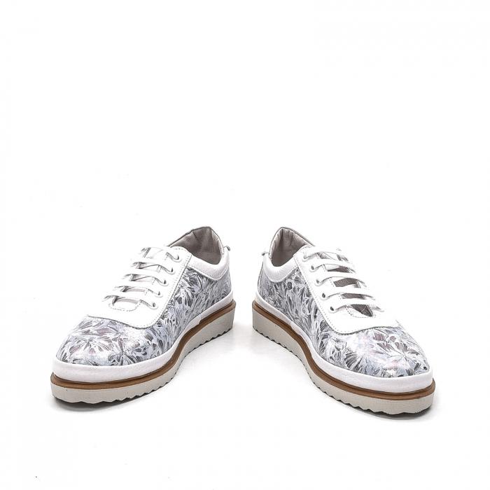 Pantofi dama casual din piele naturala, 171608NP, alb 4