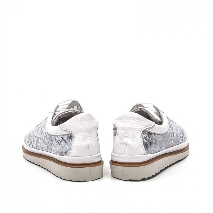 Pantofi dama casual din piele naturala, 171608NP, alb 6