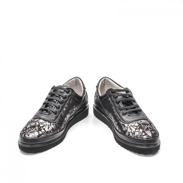 Pantofi dama casual din piele naturala, 171608NP, negru 4
