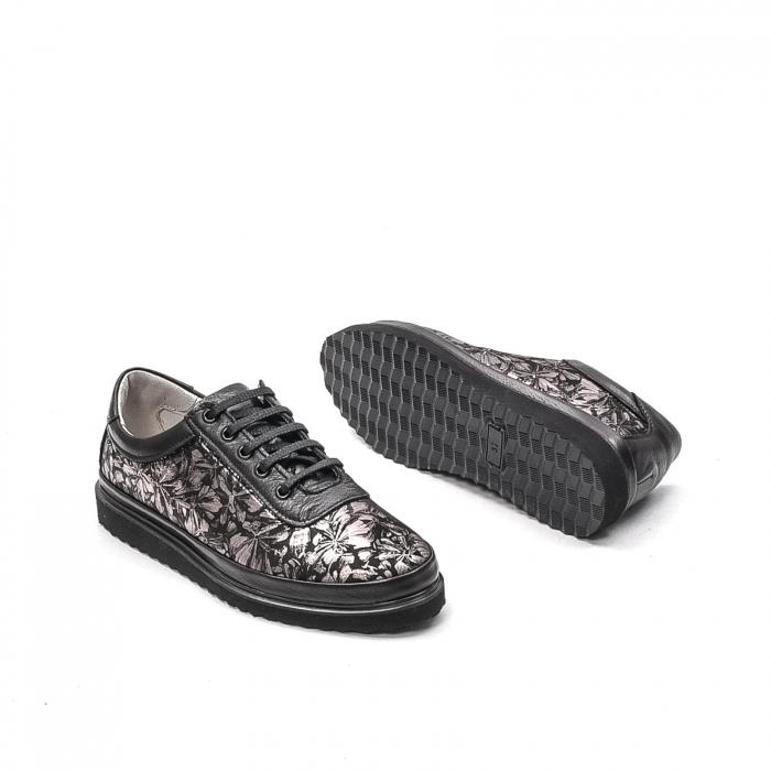 Pantofi dama casual din piele naturala, 171608NP, negru 3