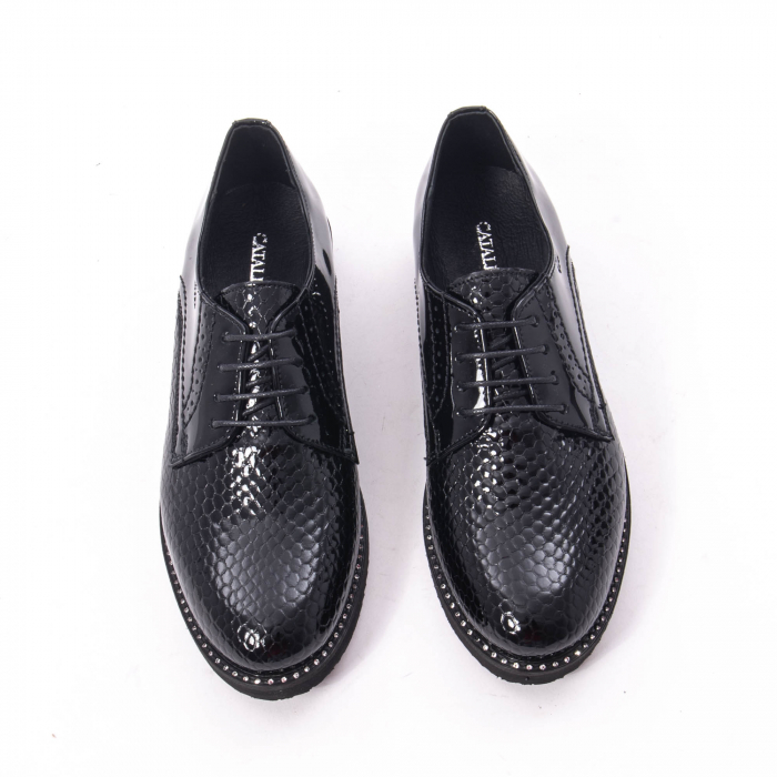 Pantofi casual dama, piele naturala, Catali 172614 N 5