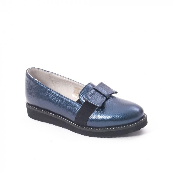 Pantofi casual dama ,piele naturala, Catali 172615 bleumarin 0