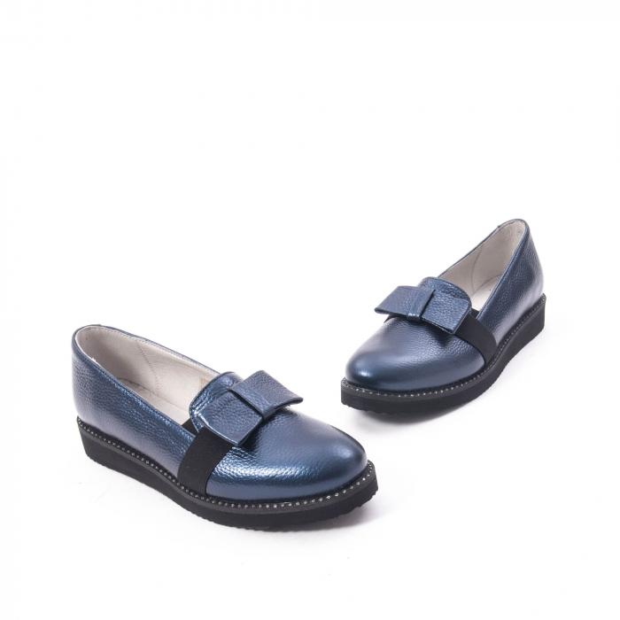 Pantofi casual dama ,piele naturala, Catali 172615 bleumarin 1