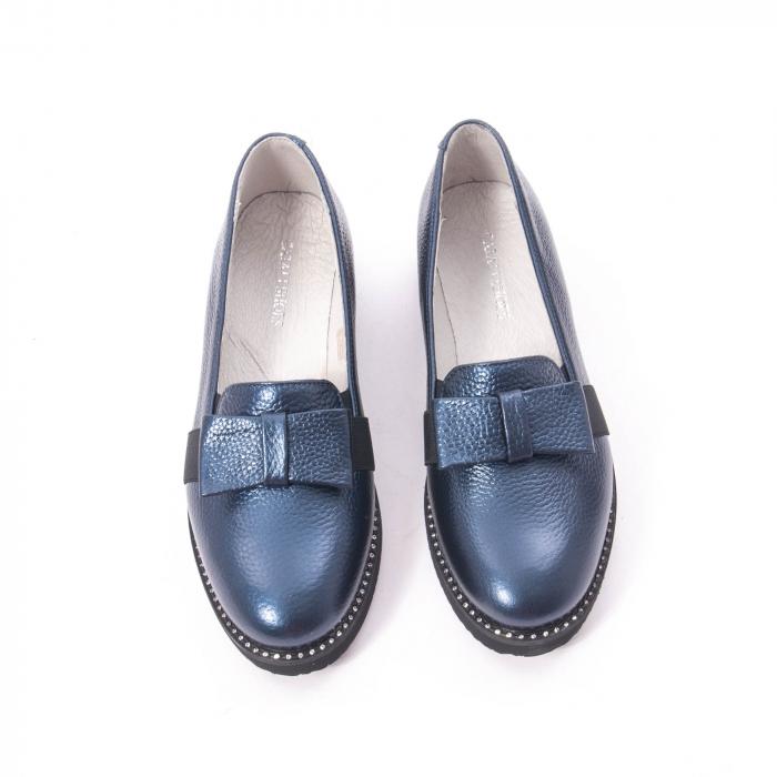 Pantofi casual dama ,piele naturala, Catali 172615 bleumarin 5