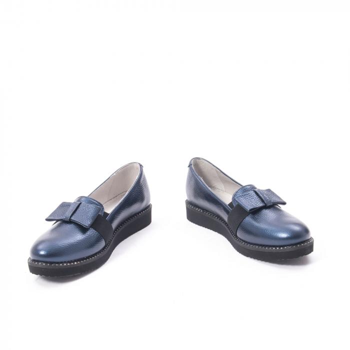 Pantofi casual dama ,piele naturala, Catali 172615 bleumarin 4