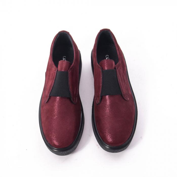 Pantofi casual dama piele naturala Catali 192658, bordo 4
