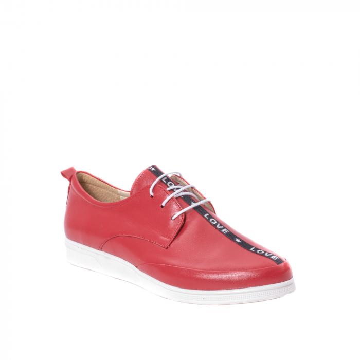 Pantofi casual dama piele naturala Nike Invest 337, rosu 0