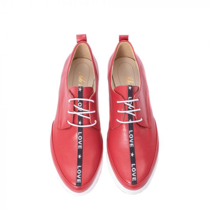 Pantofi casual dama piele naturala Nike Invest 337, rosu 5