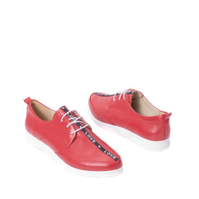Pantofi casual dama piele naturala Nike Invest 337, rosu 2