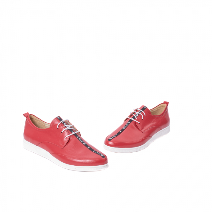 Pantofi casual dama piele naturala Nike Invest 337, rosu 1