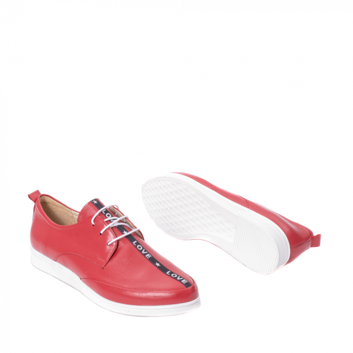 Pantofi casual dama piele naturala Nike Invest 337, rosu 3