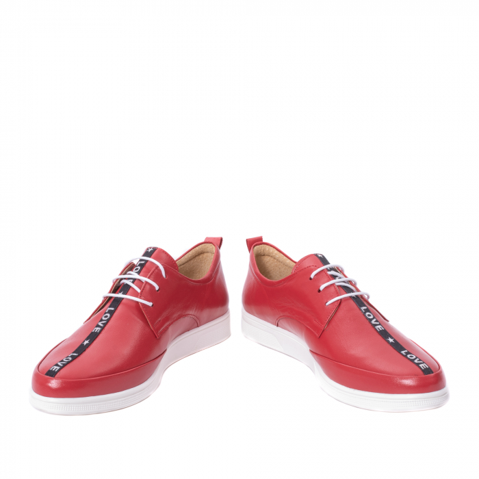 Pantofi casual dama piele naturala Nike Invest 337, rosu 4
