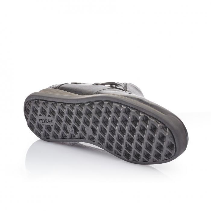 Pantofi casual dama piele naturala Rieker 44254, negru 2