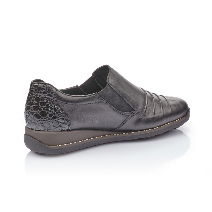Pantofi casual dama piele naturala Rieker 44254, negru 3