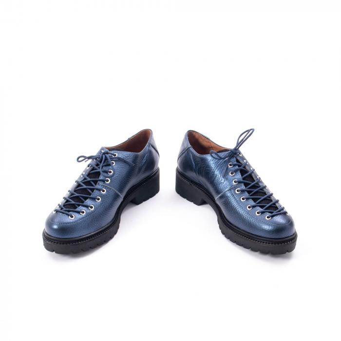 Pantofi casual dama, Leofex piele naturala 561 blue metalic 4