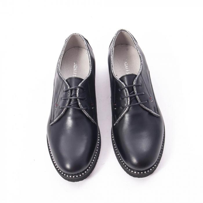 Pantofi casual dama, piele naturala Catali 171610 negru 5